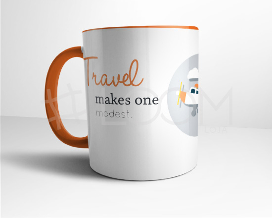 Caneca - Travel makes us modest