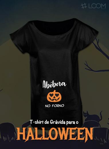 Loja Loom Design - T-shirt Grávida Halloween